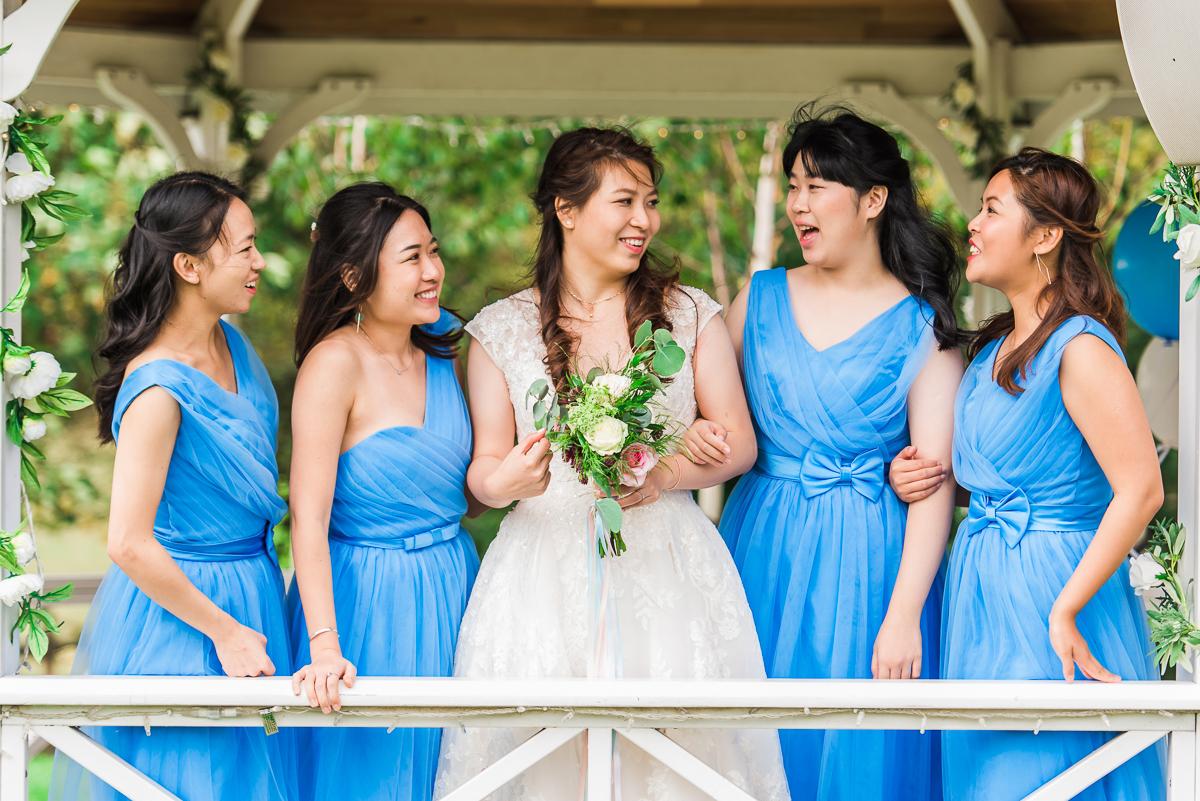 bridesmades at the Beaverwood Club