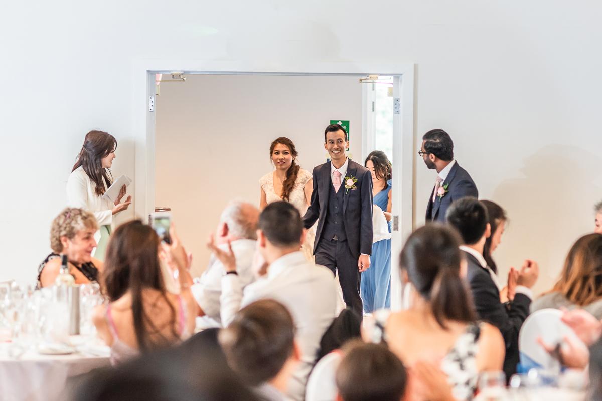 Couple entering the Beaverwood reception
