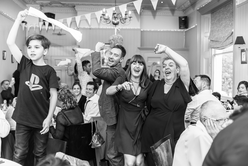 South London Wedding Photographer - wedding guests at the Rosendale in Duwlich London