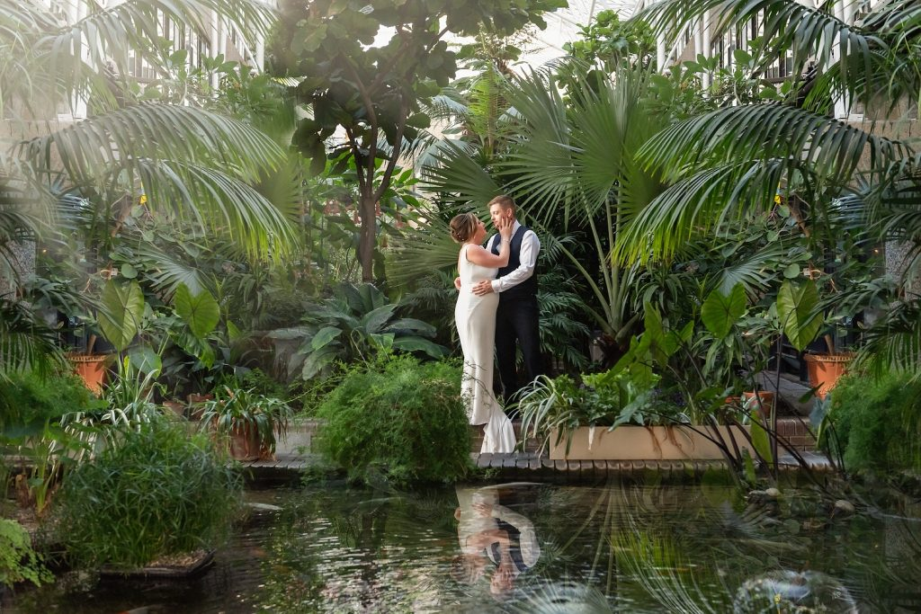 Wedding portrait session at the Barbican - South London wedding venues