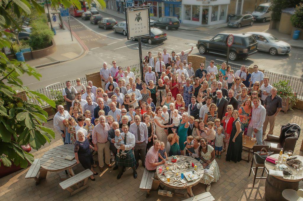 Group shot at Honor Oak Park - Wedding Venue in South London