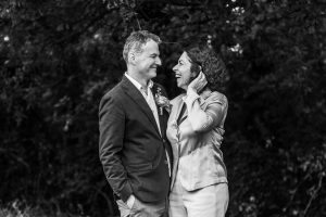 black and white portrait of couple by wedding photographer kent and south london