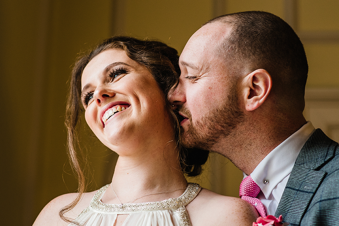 Couple portrait at the Old Palace in Bromley Civic Centre - Piccolino Weddings