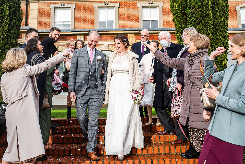 Confetti at the Old Palace Registry office in Bromley